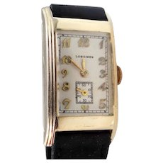 Man's 1930's 17 Jewel Gold Filled Wrist Watch Running Perfectly
