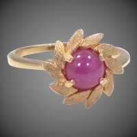 14k Gold Pink Star Sapphire Lady's Size 6 Ring