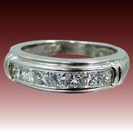 Platinum & 1 Carat Princess Cut Diamonds Scott Kay Ring