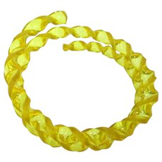Pretty Circa 1920's Yellow Celluloid Armlet Arm Bracelet