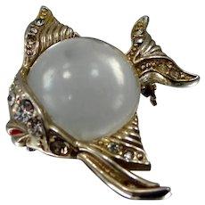 Jelly Belly Angel Fish Rhinestone Pin