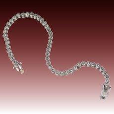 "Sterling Silver Marcasites Flexible Links 7 1/4"" Long Bracelet"