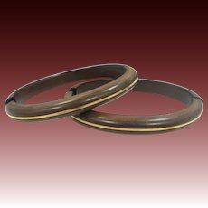 Victorian Pair of Gutta Percha Wedding or Bridal Bracelets