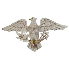 Large Coro Eagle Pin with Spread Wings