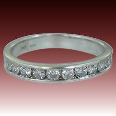 10k White Gold 11 Diamond Wedding Band | Stacking Ring | Engagement | Anniversary