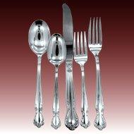 74 Pieces Rogers Reinforced Plate Silverware 1952 Elegant Lady / Daybreak Pattern MIB