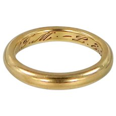 Victorian 18k Solid Gold Wedding Ring | Stacking Band