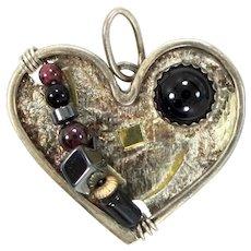 Artisan Sterling Silver Heart Shaped Pendant