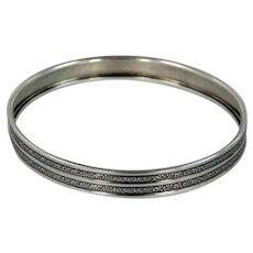 Nice Signed DANECRAFT Sterling Bangle Bracelet