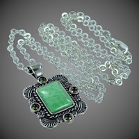 Carlisle Jewelry Southwestern Sterling Silver & Turquoise Necklace Bill Pollack