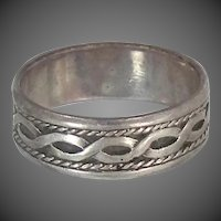 Man's Size 12 1/4 Celtic Knot Solid Sterling Silver Ring
