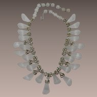 SALE Gorgeous Designer Quality Lucite Necklace
