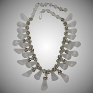 SALE Gorgeous Designer Quality Lucite Necklace