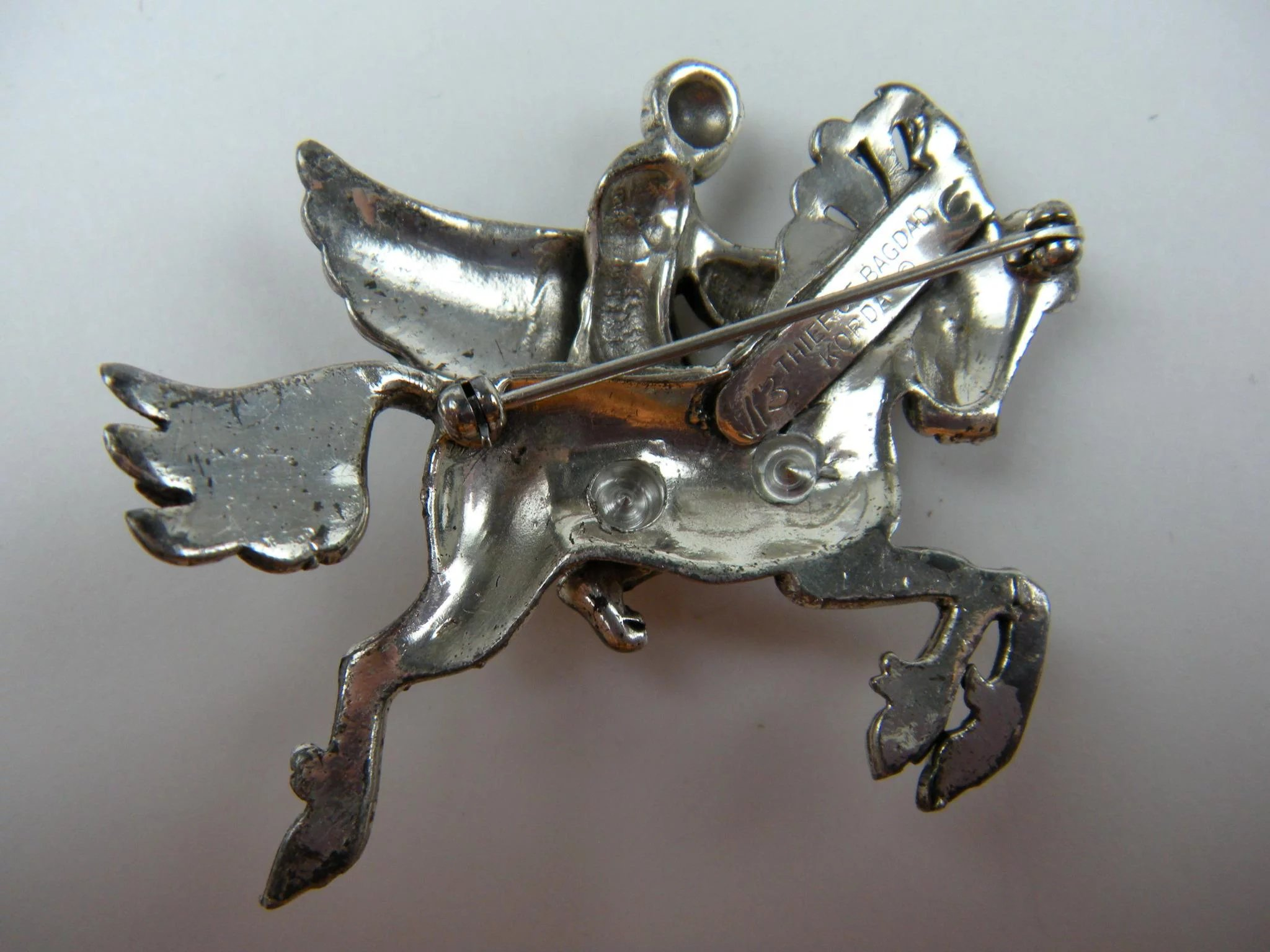 Signed Brooch Korda Thief Of Bagdad Pegasus With Rider