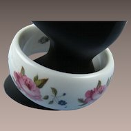 Kenneth Jay Lane KJL Royal Worcester Bangle Book Piece