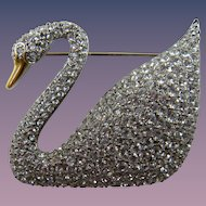 Iconic Swarovski Swan Brooch Book Piece