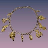 Signed Kenneth Jay Lane KJL Renaissance Charm Necklace