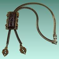 Selro Selini Lariat Style Necklace with Huge Confetti Lucite Pendant