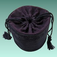 1930's Faille Drawstring Purse