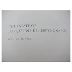 1996 Sotheby's Catalog for the Estate of Jacqueline Kennedy Onassis Sale April 23-26, 1996 - Red Tag Sale Item