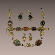 Rare MIRIAM HASKELL Egyptian Revival Parure