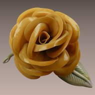 Celluloid Rose Brooch