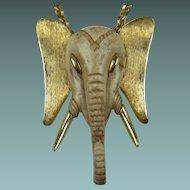 HUGE Razza Resin Elephant Pendant Necklace Ganesha God