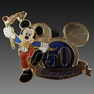 Mickey Mouse Disneyland 50th Anniversary Pin