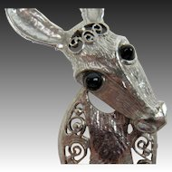 """DeLizza and Elster Donkey Brooch """"Last Generation"""""""