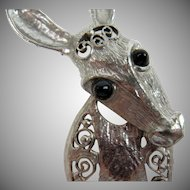 "DeLizza and Elster Donkey Brooch ""Last Generation"""