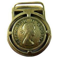 English Monarchy George VI Elizabeth II Money Clip