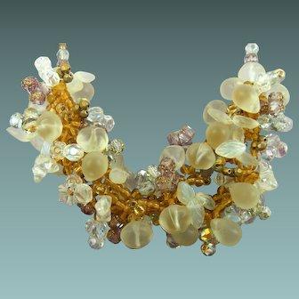 Fabulous Glass Beads Necklace Fruit Motif