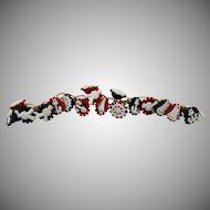 Vintage Celluloid Patriotic Military Link Bracelet with Charms