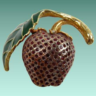 Luscious Strawberry Brooch