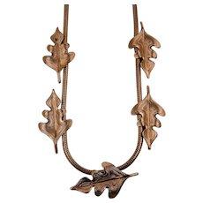Gold Plated Oak Leaf Necklace