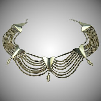 Elegant Festoon Style Necklace-Adjustable