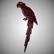 Signed Buch and Deichmann Denmark Enormous Bird Brooch