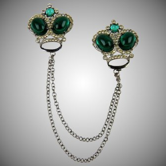 Cabochon Crown Chatelaine