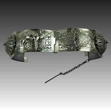 Bangle Bracelet with Hamsa Universal Symbol of Protection