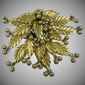 Frank Hess for Miriam Haskell Unsigned 1940's Brooch