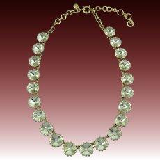 Signed Headlight Rhinestone Necklace