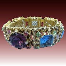 Exquisite Rhinestone Bracelet with Extra Large Stones