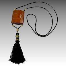 1970's YSL Pendant with Opium Perfume