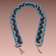 Wonderful Native American Beaded Child's Belt Sash