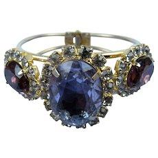 Glamorous Rhinestone Clamper Bracelet
