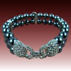 Signed Joan Rivers Double Strand Bracelet