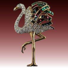 Duchess of Windsor-Inspired Flamingo Brooch