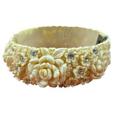 Celluloid Featherweight Molded Clamper Bracelet