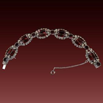 Ruby Red Rhinestone Bracelet Kramer New York