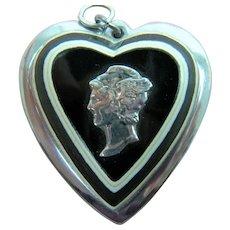 WW II Sweetheart Jewelry Pendant Winged Liberty Head Dime Insignia